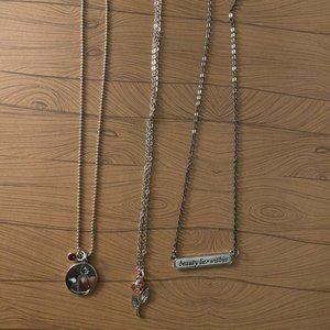 Beauty & The Beast - 3 pack necklace set